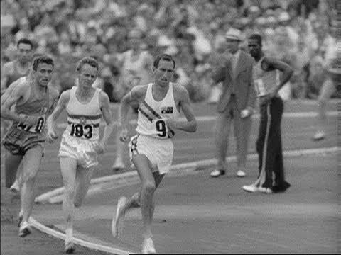 Herb Elliot in Führung des 1500m-Laufes bei den Olympischen Spielen 1960 in Rom