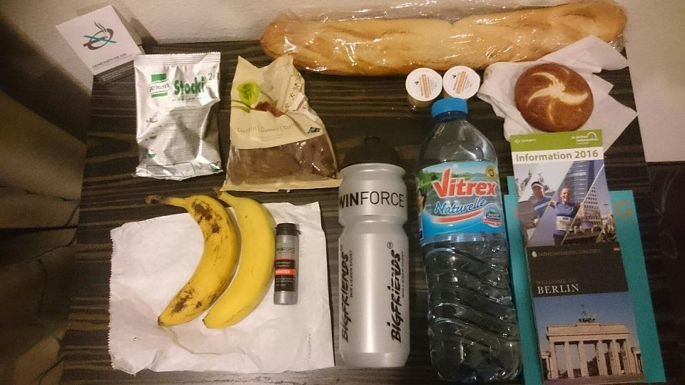 Wird Andreas Frühstück wohl ähnlich aussehen wie beim Halbmarathon in Berlin?
