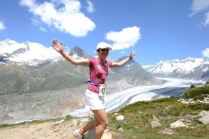 Berchtold Marion vor dem Wunderschönen Aletschgletscher.