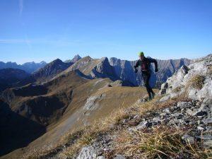 Markus Burger bei Durchquerung des Karwendels