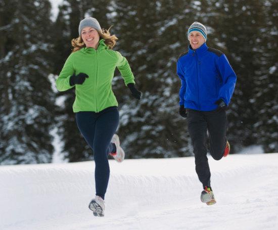 Rennen im Winter