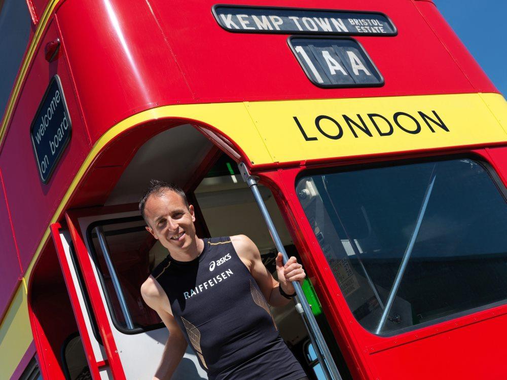 Viktor Röthlin auf dem Weg nach London
