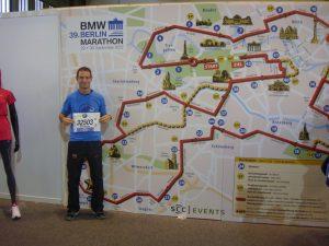 Wolfgang Fallert am 39. BMW Berlin-Marathon