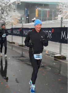 Manfred Beck am Lucerne Marathon