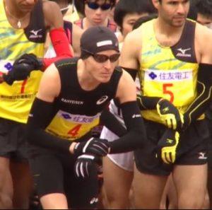 Viktor Röthlin am Start des Lake Biwa Marathon
