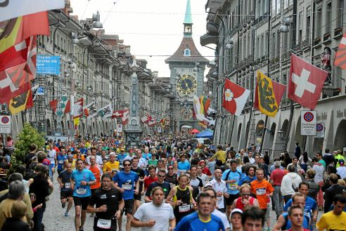 Bern im Banne der Läuferinnen und Läufer