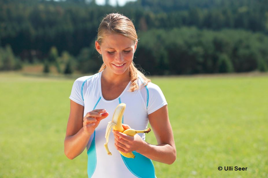 A banana is a perfect snack and great before, during and after training. The more ripe, the more beneficial!
