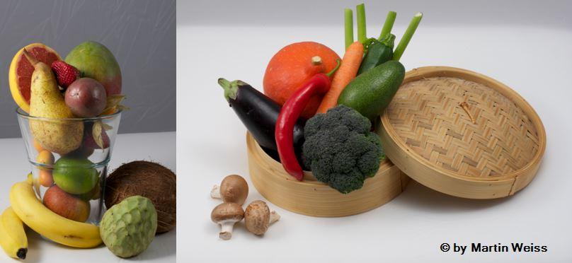 Versuche möglichst häufig Gemüse und Früchte am Tag zu konsumieren