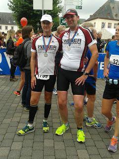 Mit meinem Trainingspartner macht das Laufen doppelt Spass
