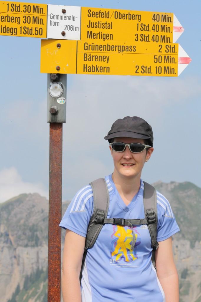 Barbara Lüscher-Hegnauer trainiert, um mit ihrem Mann 10km laufen zu können