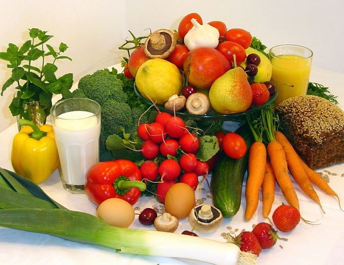 Achte auf gesunde Ernährung und biologisch angebaute Produkte