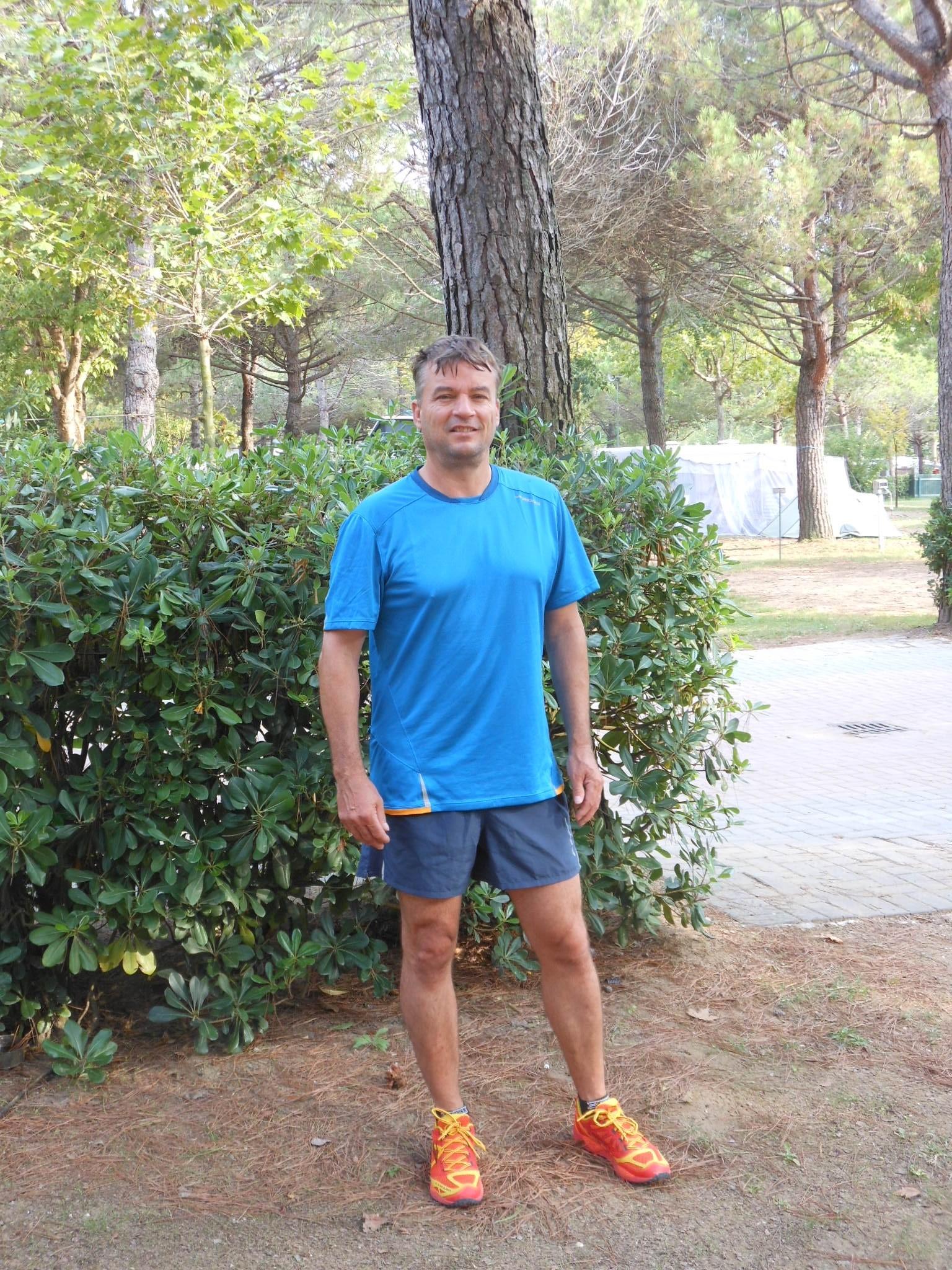 Michael Romberg während seinem Urlaub an der Adria