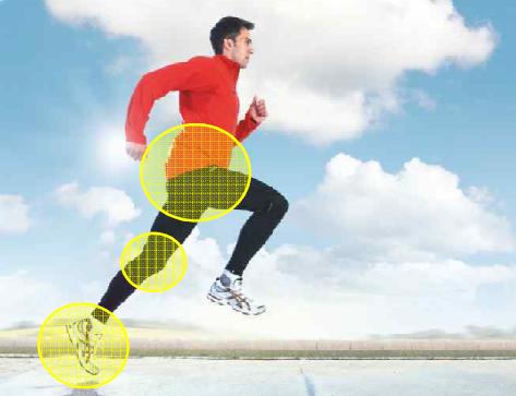 Verletzungen treten beim Läufer insbesondere an den unteren Extremitäten auf