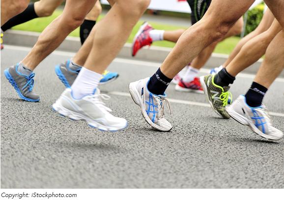 Die Laufschuhe beeinflussen die Technik und die Beanspruchung der Muskulatur