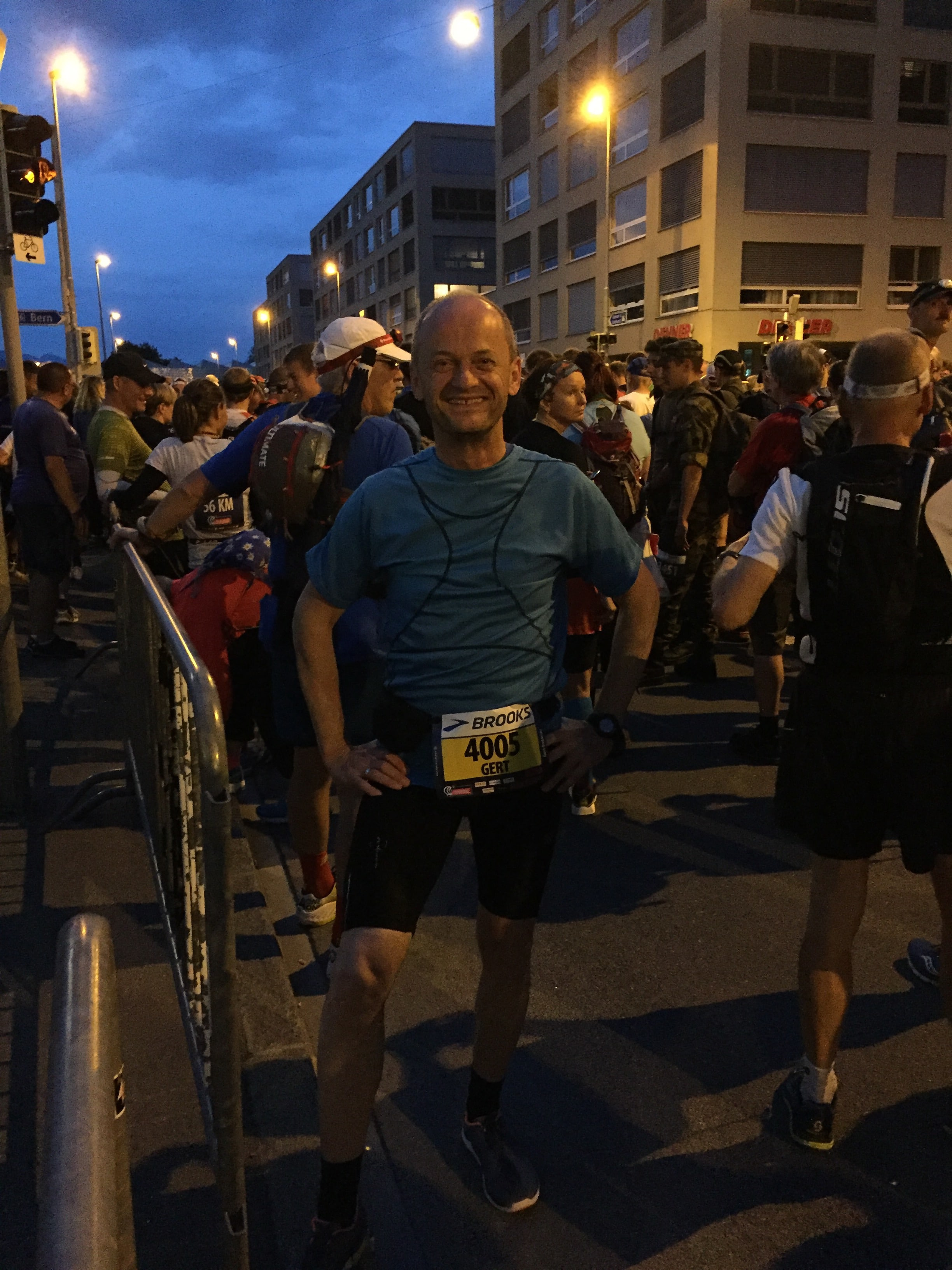 Gert beim Start in Biel